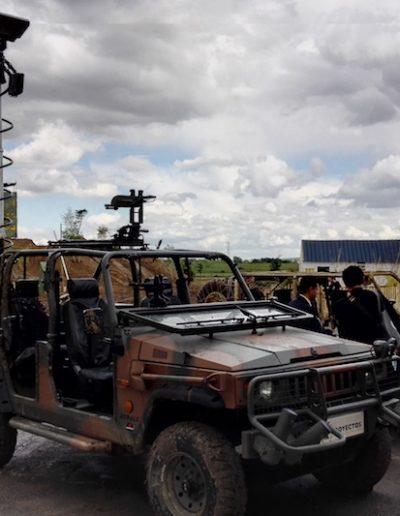 Mât militaire electromecanique Mecmast