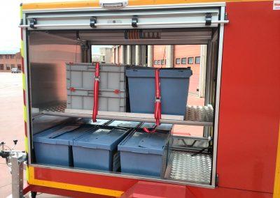 Remorque caisses intégrées pour interventions de sauvetage