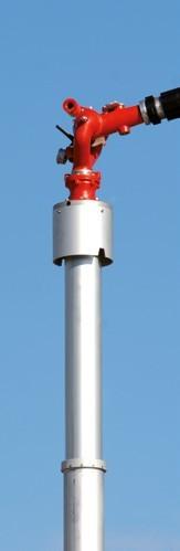 Mât spécial pour prévention et extinction incendie Aquamast