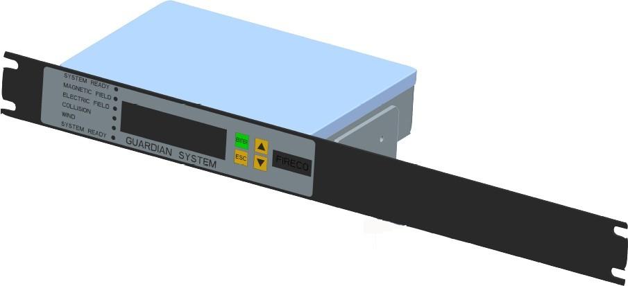 3D de l'écran de mesures du système de sécurité Guardian