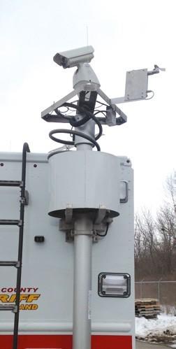Système de protection pour reploiement intantanée de mât devant le danger