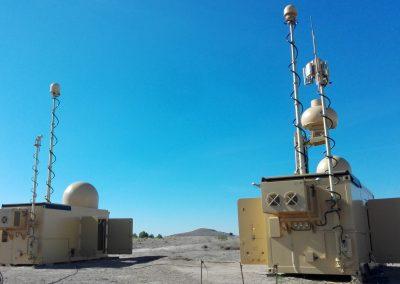 Mâts sur container pour la communication