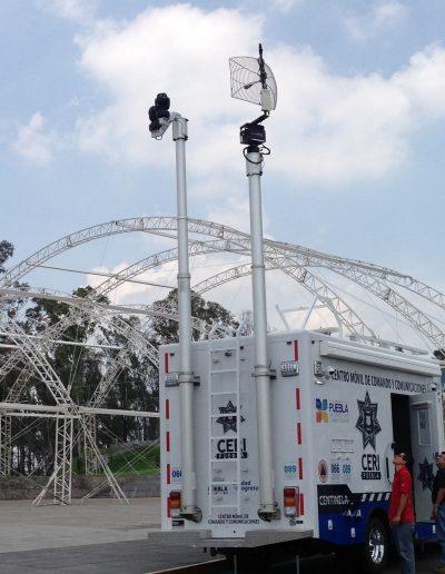 mat telescopique avec antenne