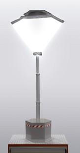 Système spécial de mât avec ballon lumineux Lumicone