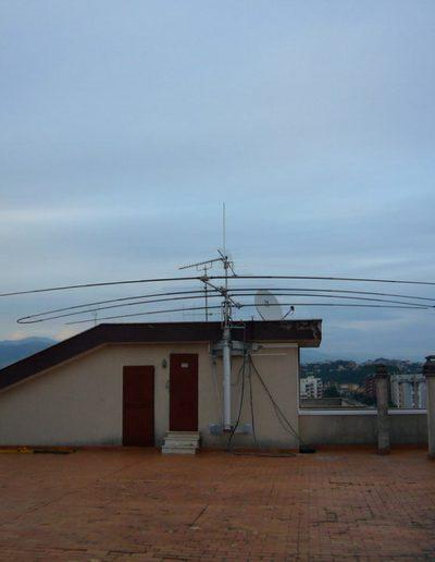 antenne radio et mât télescopique