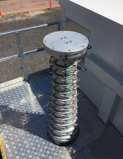 Mats télescopiques pneumatiques de communication de 20m